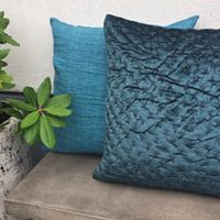 Cozy Living Luxury Velvet Cushion-PETROL
