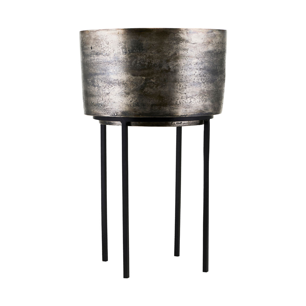 House Doctor Kazi Oxidised Metal Planter