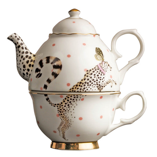 Yvonne Ellen Tea For One Set Cheetah