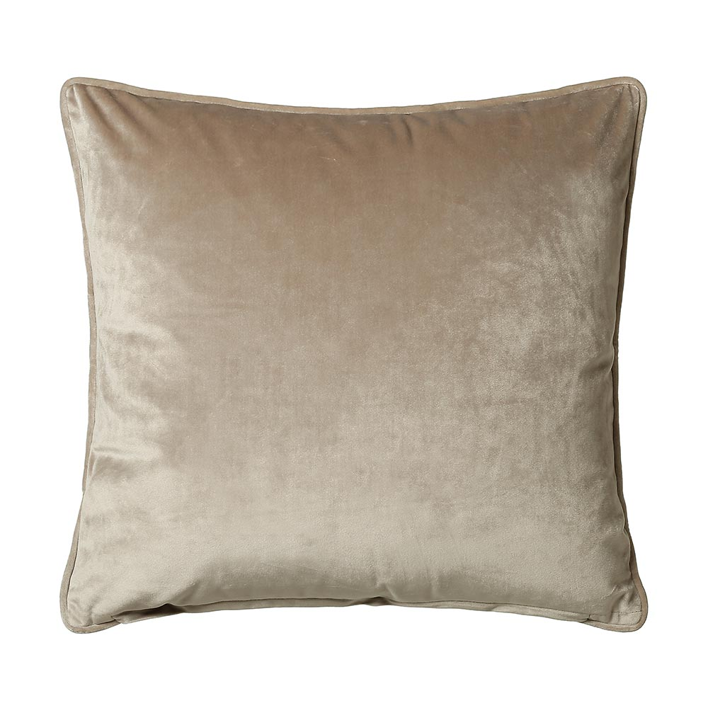 Scatter Box Bellini Velvet Velour Cushion Taupe
