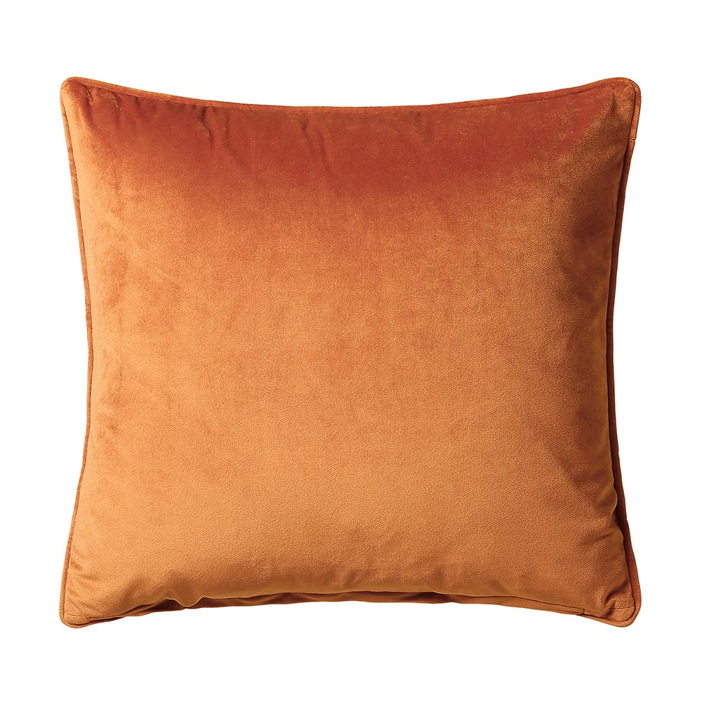 Scatter Box Bellini Velvet Velour Cushion Terracotta