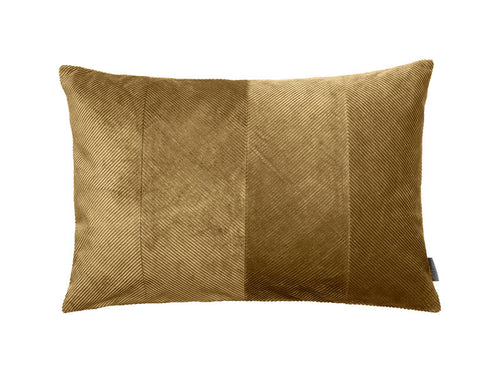 Cozy Living Corduroy Herringbone Cushion- MUSTARD