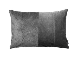 Cozy Living Corduroy Herringbone Cushion- STEEL