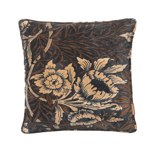 Cozy Living Sumptuous Flower Cushion  Cole Grey