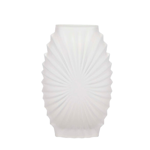 Bahne Frosted Glass Vase White