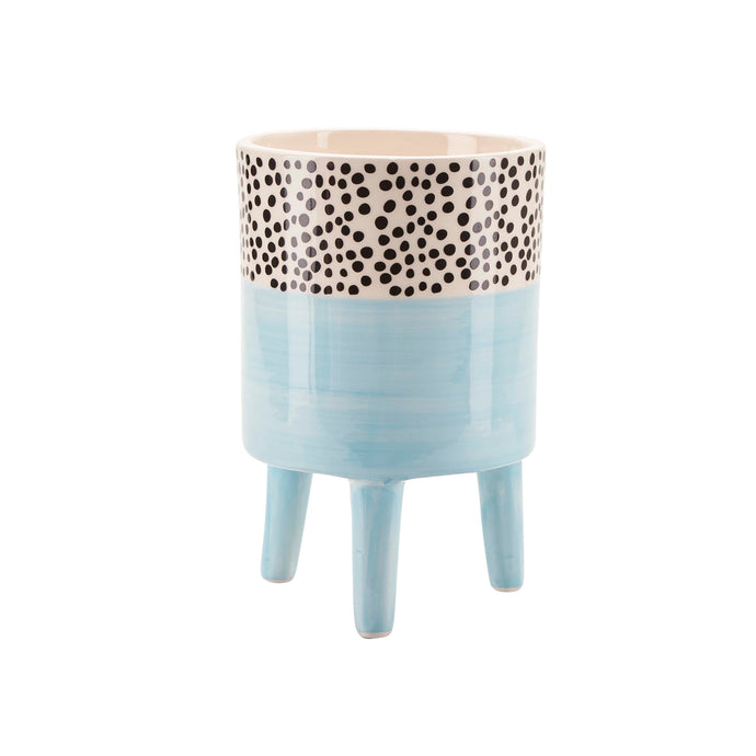 Bahne Ceramic Flower Pot  Blue