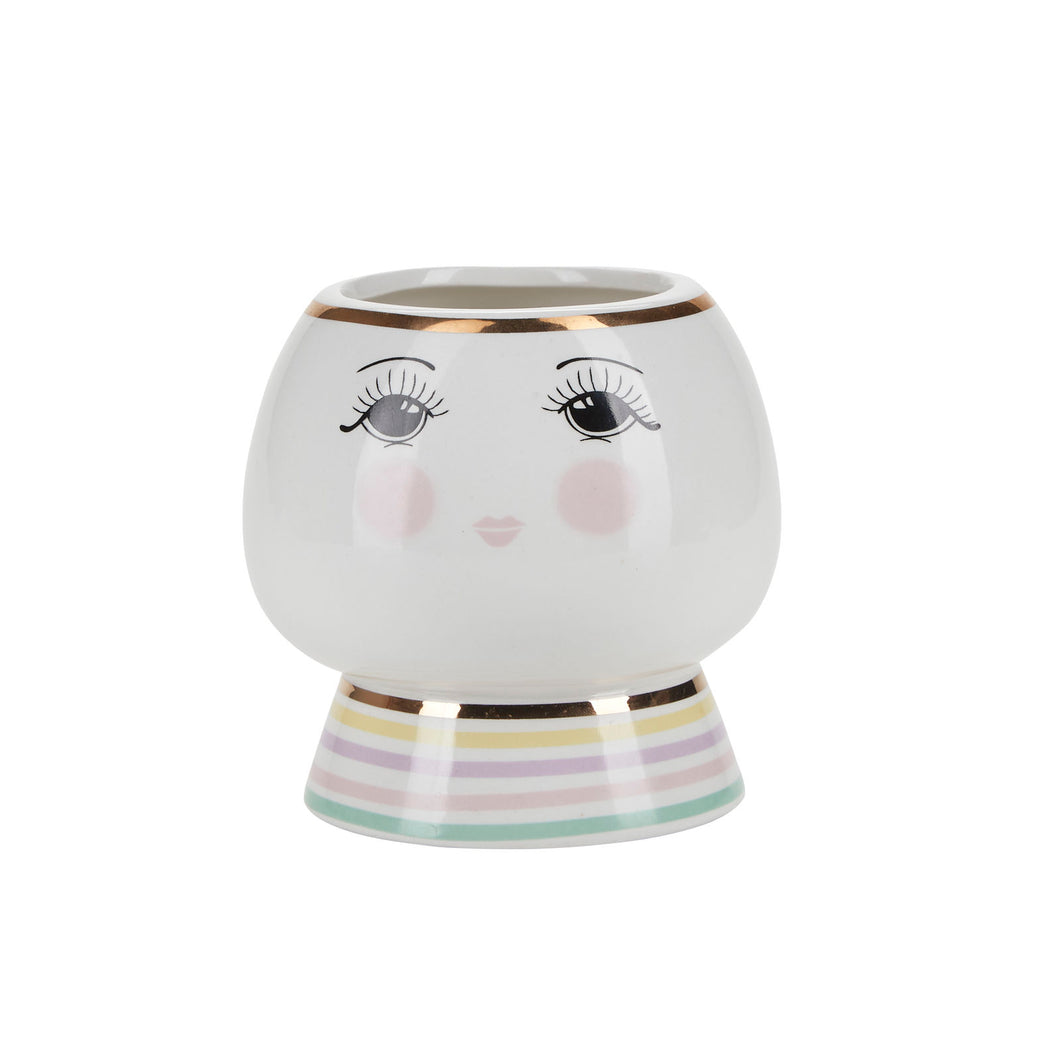 Miss Etoile Ceramic Flower Pot Open Eyes