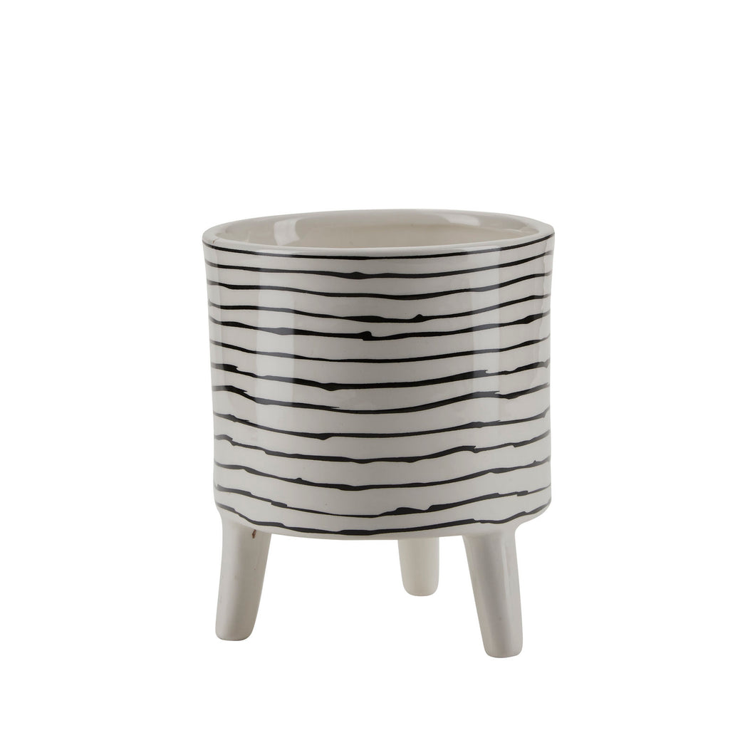 Bahne Ceramic Planter Stripes