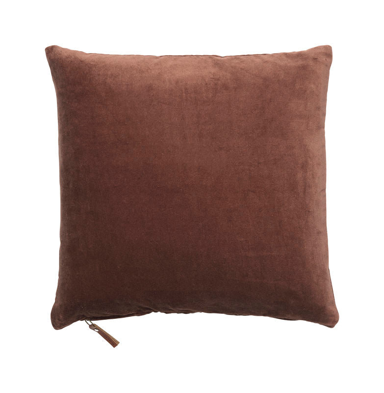 Cozy Living Soft Velvet Cushion  MAHOGANY