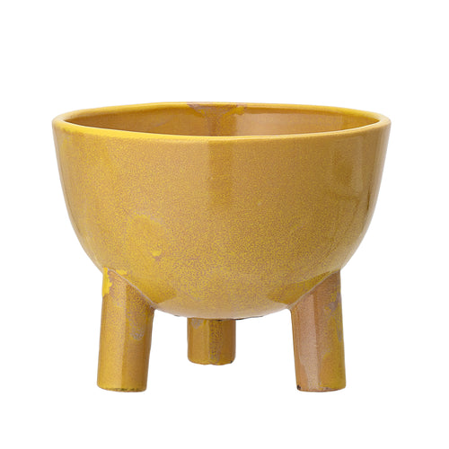 Bloomingville stoneware Planter Yellow