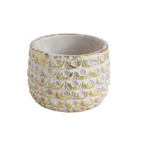 Bloomingville White & Gold Planter