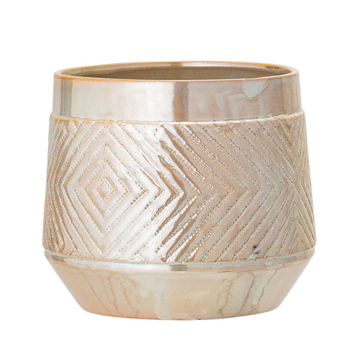 Bloomingville stoneware Planter Cream
