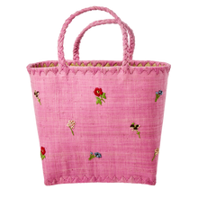 Rice Raffia Bag  Plum
