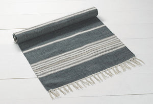 Walton & Co Bergen Cotton Rug   Blue Grey