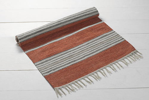 Walton & Co Bergen Cotton Rug  Rust