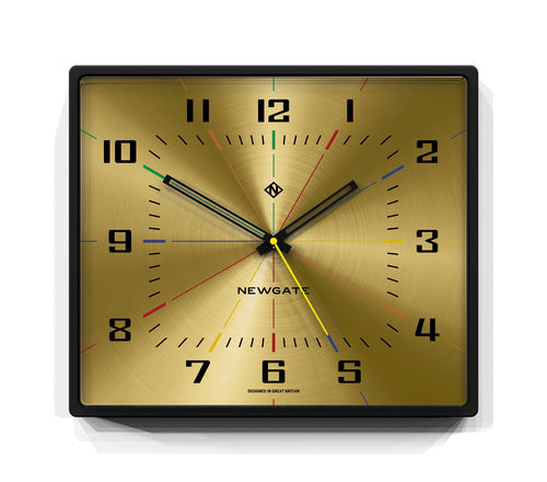 Newgate Box Office Wall Clock  Brass