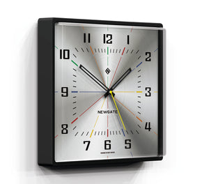 Newgate Box Office Wall Clock Silver