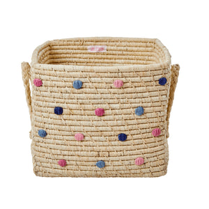 Rice Square Raffia Basket
