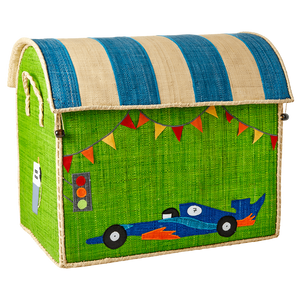 Rice Raffia Storage Chest  Race car  Large