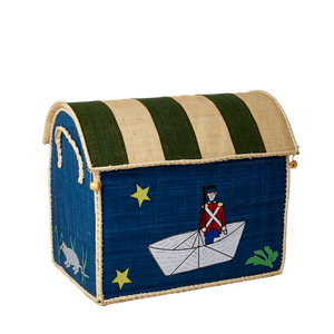 Rice Raffia Storage Chest Tin Soldiers