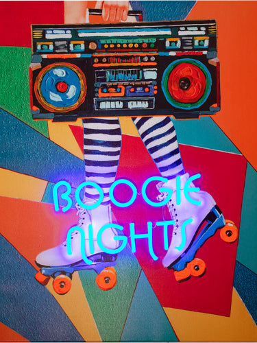 Locomocean Wall Artwork With Neon Lighting Boogie Nights