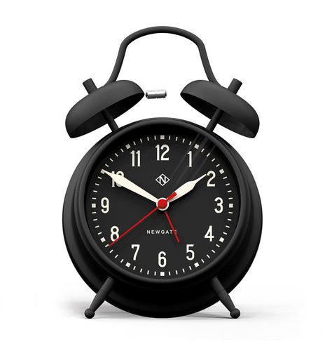 Newgate Manchester Alarm Clock  Black On Black