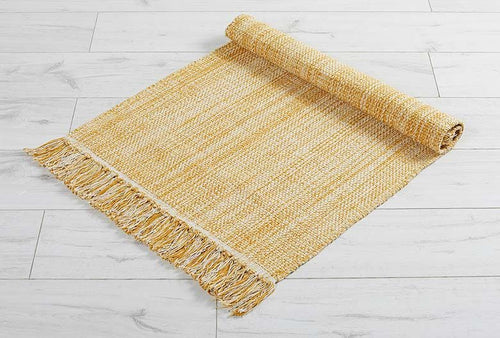 Walton & Co Chambray Cotton Rug  Ochre