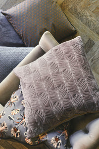 Cozy Living Palm Flower Cotton Cushion