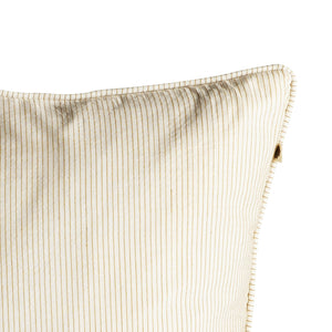 Tine K Striped Cotton Cushion  Curry