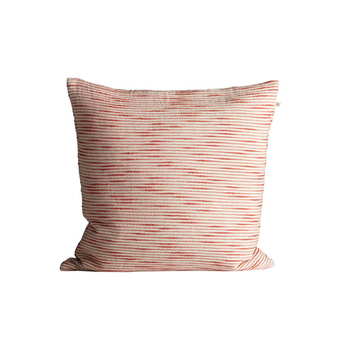 Tine K Slub Cotton Cushion  Red