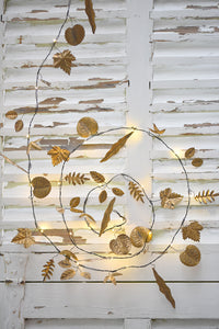 Gold Leaves Handmade Metal Fairy Lights ( Battery Operated)