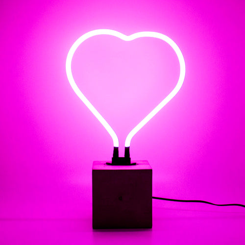 Locomocean Neon Table Light  Heart