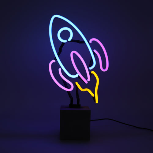 Locomocean Neon Table Light  Rocket