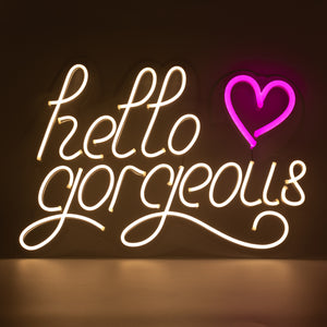 Locomocean Hello Gorgeous Neon LED Wall Hanging