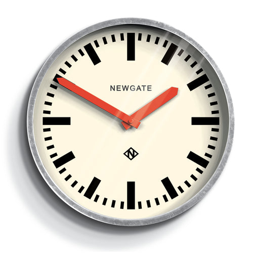 Newgate Luggage Wall Clock Galvanised Metal