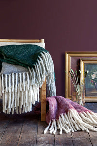 Cozy Living Mathea Melange Wool Throw Grey
