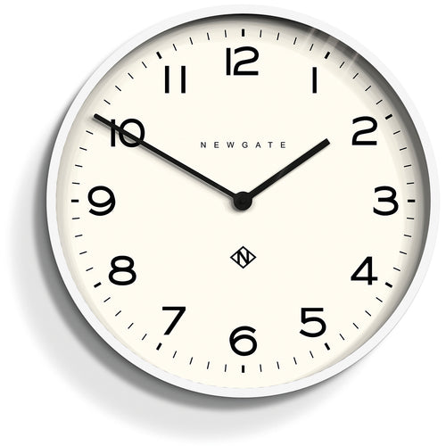 Newgate Echo Number One Clock Pebble White