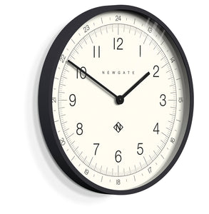 Newgate Number One Academy Wall Clock- Black