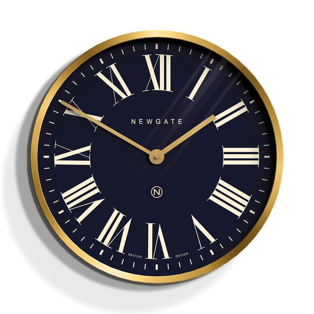 Newgate Mr Butler Wall Clock  Brass