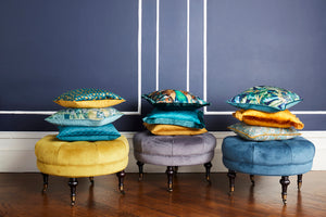 Scatter Box Vivaldi Cushion Teal / Gold