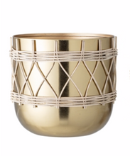 Bloomingville Metal Planter Gold  Small