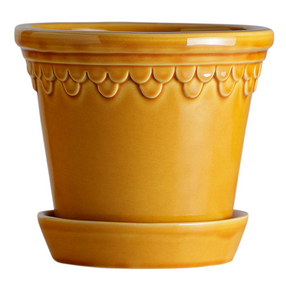 Bergs Potter Copenhagen Planter Yellow Amber