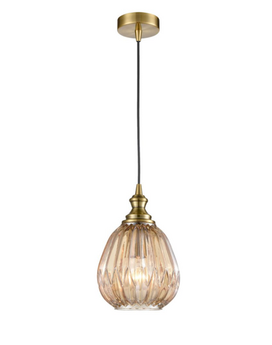 Refract Glass  Pendant  Champagne Small