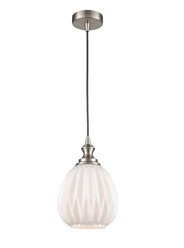 Refract Glass Pendant White Small