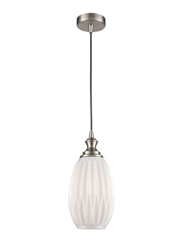 Refract Glass Pendant White Large