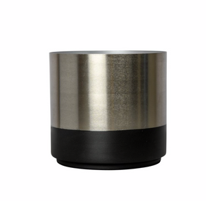 On Interior Aria Plant  Pot  Silver/ Black