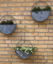 Bahne Galvanised Wall Planters