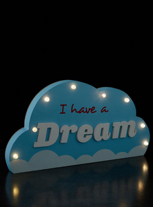I Have A Dream Cloud  Led Light