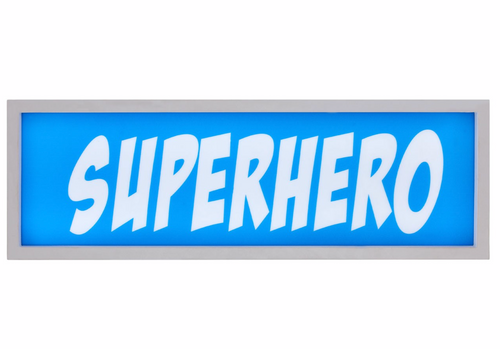 Superhero Led Light Box