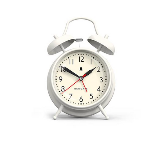 Newgate Covent Garden Alarm Clock Linen White